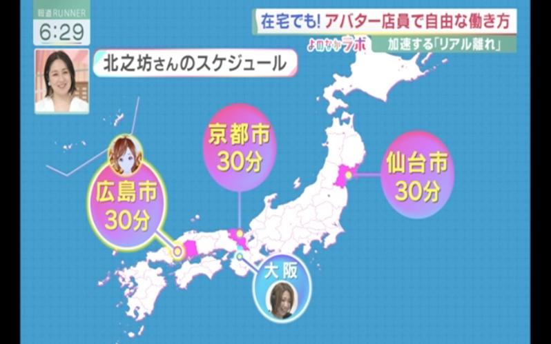 スーパーでのアバター接客<br>カンテレ「報道ランナー」<br>2021/6